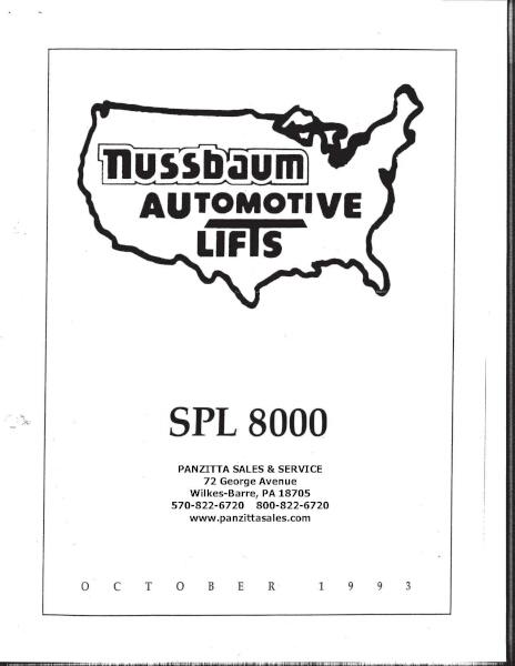 Nussbaum SPL 8000 Parts