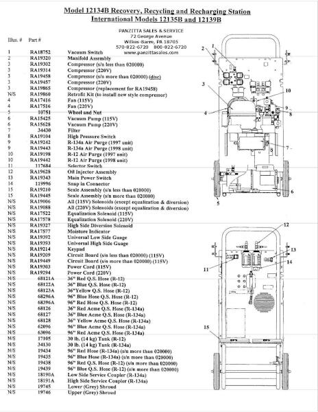 Robinair 12134B Parts – Replacement Parts