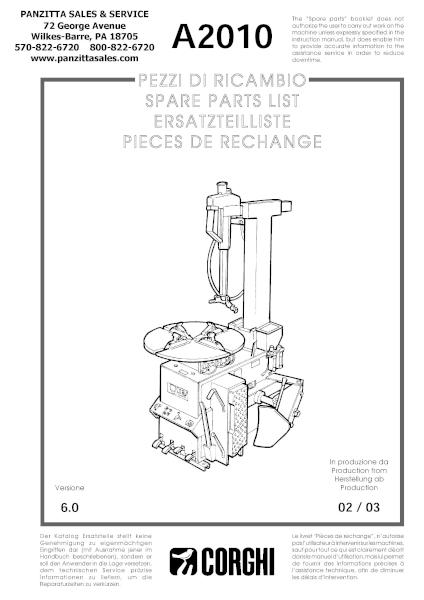 Corghi A2010 Parts