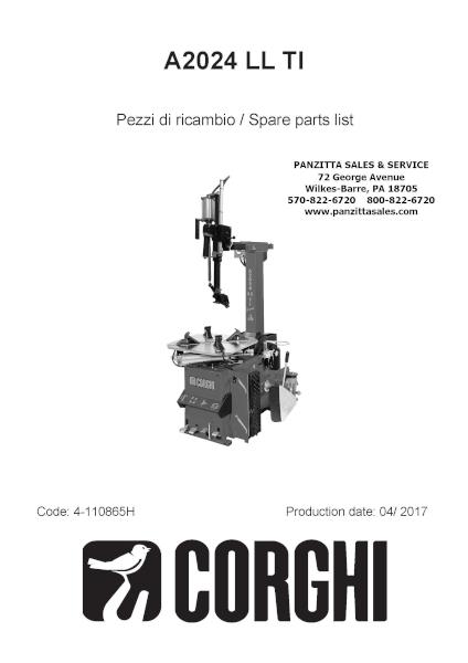 Corghi A2024 LL TI Parts