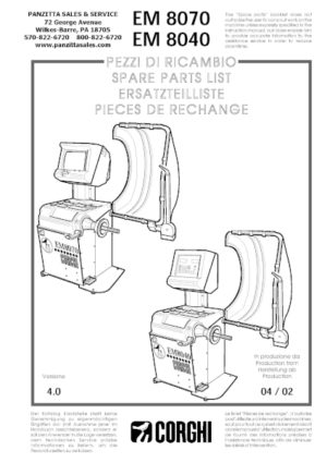 Corghi Wheel Balancer Parts and Breakdowns