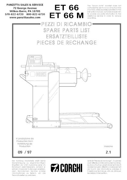 Corghi ET 66, ET 66 M Parts