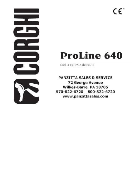 Corghi ProLine 640 Parts