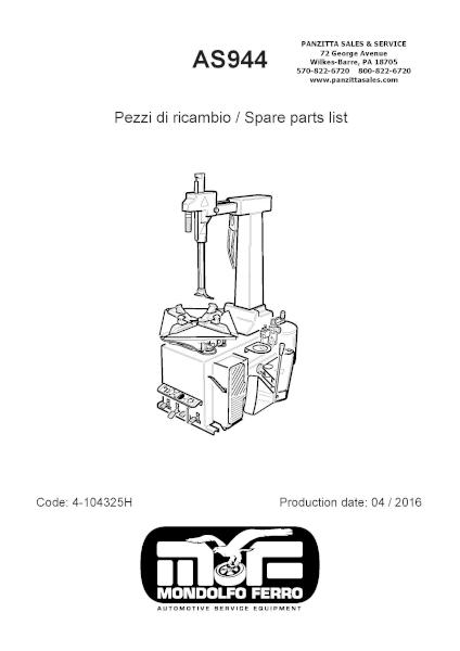 Mondolfo Ferro AS944 Parts