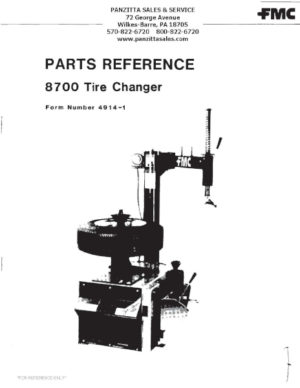 FMC Tire Changer Parts and Breakdowns