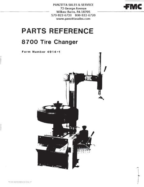 FMC 8700 Tire Changer Parts