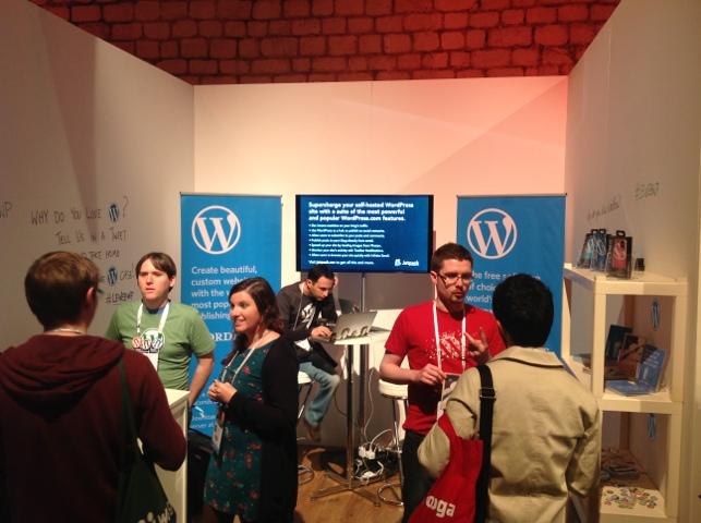 WordPress booth @ LeWeb