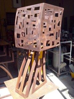 candelieri, lampade e oggettistica in ferro