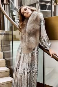 Fur collar and shawls