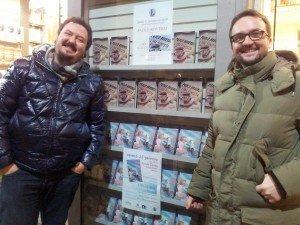 Simone Sarasso e Paolo Roversi, presentazione alla Libreria Lazzarelli di Novara, 12 gennaio 2013