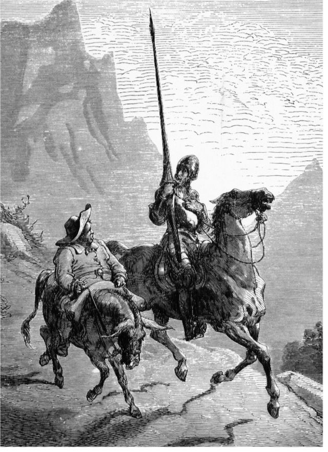 Gustave Doré: Don Quijote de La Mancha and Sancho Panza, 1863