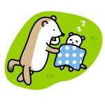 赤ちゃんを寝かし付けする動物