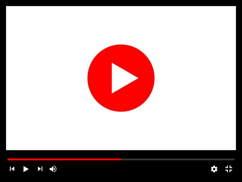 動画の再生画面イメージイラスト