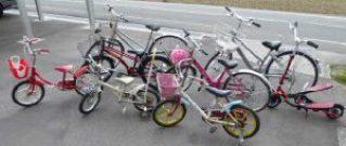 家族全員分の自転車