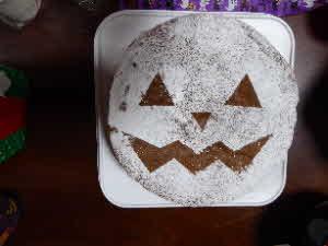 ハロウィン風ケーキ