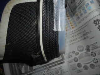 靴底補修用プラバン仮止め横から