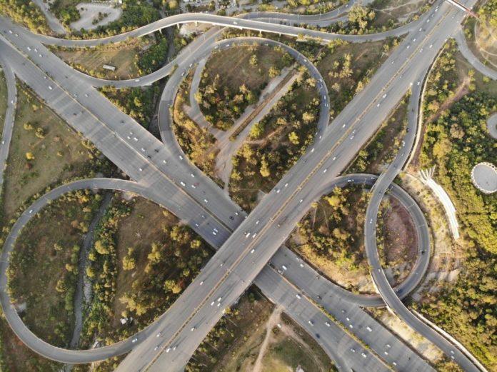 phobie des ponts, ou du vide, un échangeur autoroute bien compliqué