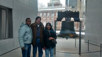 With my Aunt Jovita and Uncle Francis at the Liberty Bell