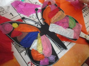 Papillon recouvert de papier