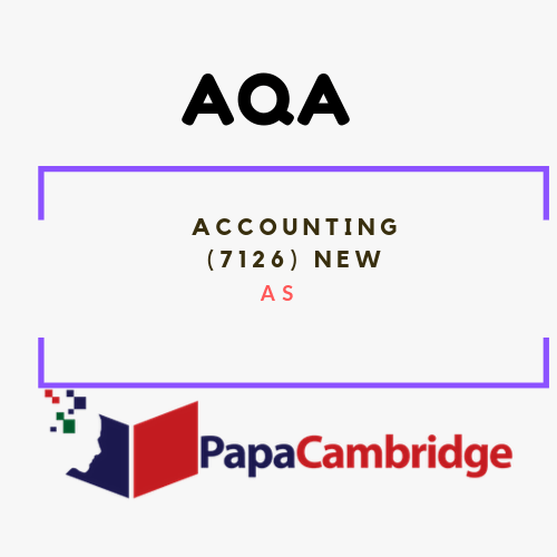 Accounting (7126) AS Past Papers