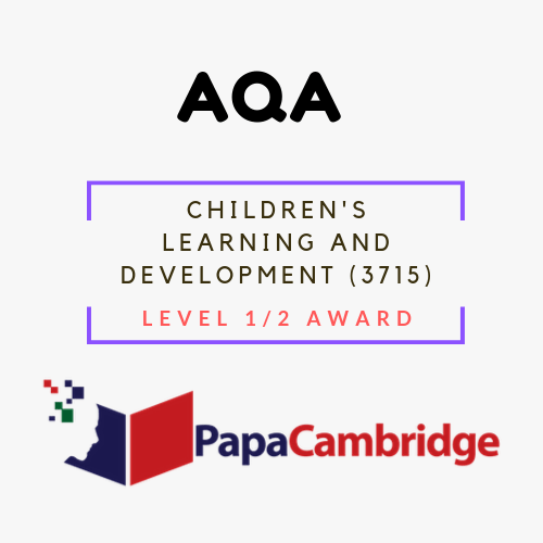 Children's Learning and Development (3715) Level 1/2 Award Past Papers