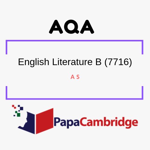 English Literature B (7716, 7717) AS Past Papers
