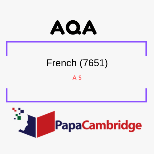 French (7651) AS Past Papers