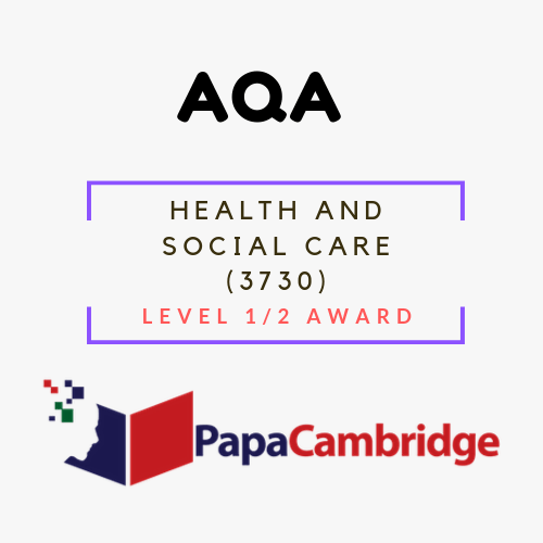 Health and Social Care (3730) Level 1/2 Award Past Papers