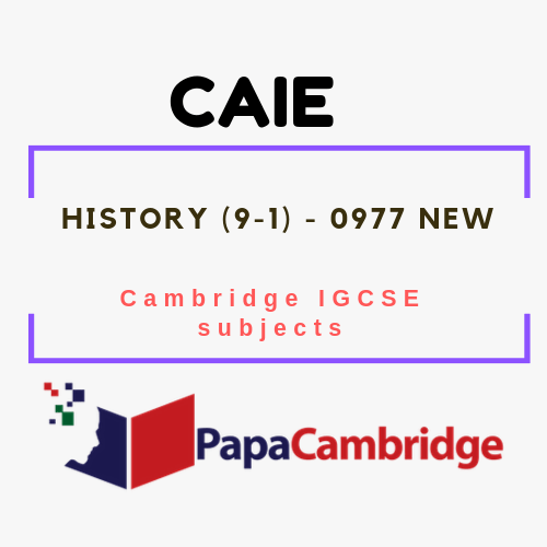 Cambridge IGCSE History (9-1) (0977) Notes
