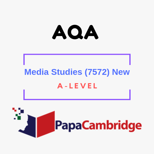 Media Studies (7572) A level Past Papers