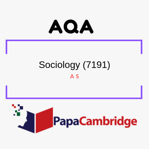 Sociology (7191, 7192) AS Past Papers