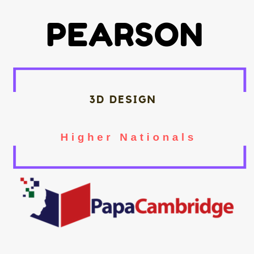 3D Design Higher Nationals Syllabus