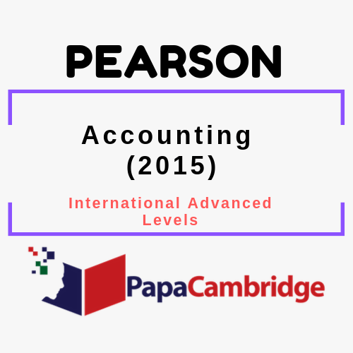 Accounting (2015) International Advanced Levels Past Papers