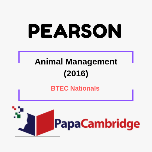 Animal Management (2016) BTEC Nationals Syllabus