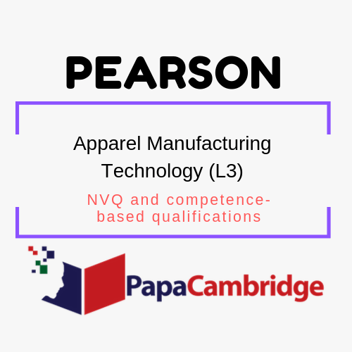 Apparel Manufacturing Technology (L3) NVQ and competence-based qualifications Syllabus