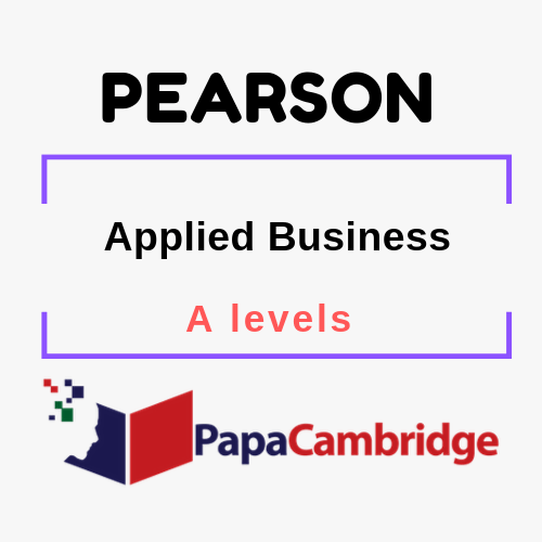 Applied Business A level Syllabus