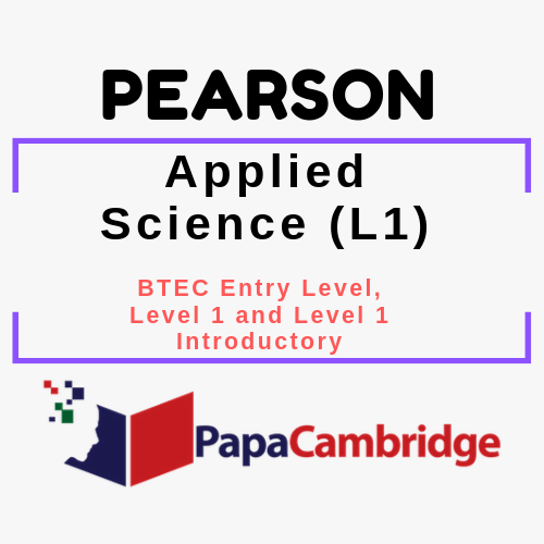 Applied Science (L1) BTEC Entry Level, Level 1 and Level 1 Introductory PPT Slides