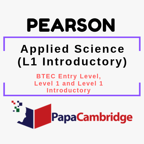 Applied Science (L1 Introductory) BTEC Entry Level, Level 1 and Level 1 Introductory PPT Slides