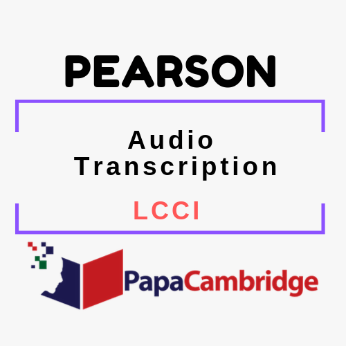 Audio Transcription LCCI Syllabus