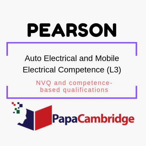 Auto Electrical and Mobile Electrical Competence (L3) NVQ and competence-based qualifications Syllabus
