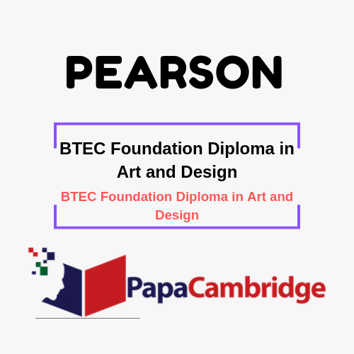 Art and Design BTEC Foundation Diploma in Art and Design Syllabus