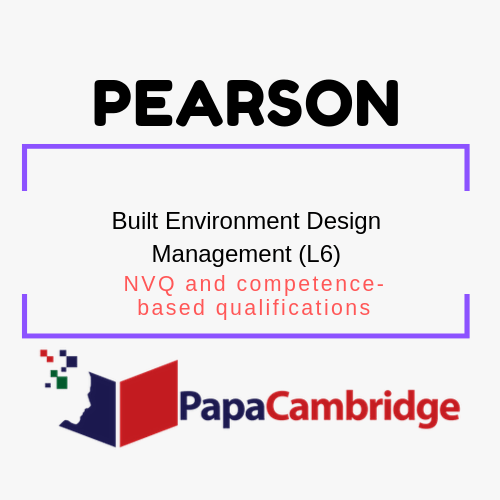 Built Environment Design Management (L6) NVQ and competence-based qualifications Syllabus