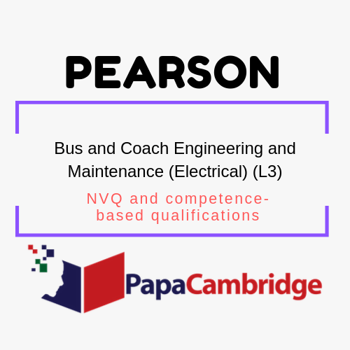 Bus and Coach Engineering and Maintenance (Electrical) (L3) NVQ and competence-based qualifications Past Papers
