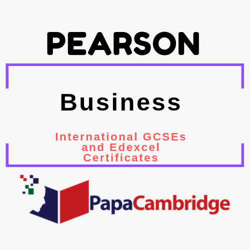 Business (2017) International GCSEs and Edexcel Certificates Syllabus