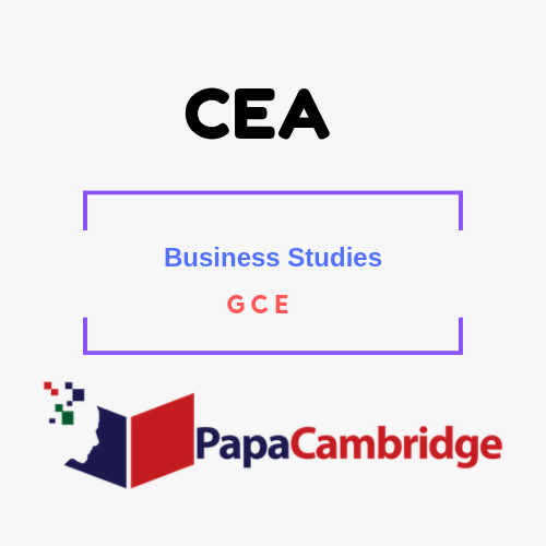 Business Studies General Certificate of Education Past Papers