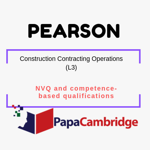 Construction Contracting Operations (L3) NVQ and competence-based qualifications Syllabus