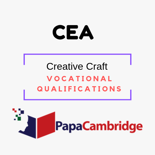 Creative Craft Level 1 Award, Level 2 Award and Level 3 Certificate Vocational Qualifications Ebooks