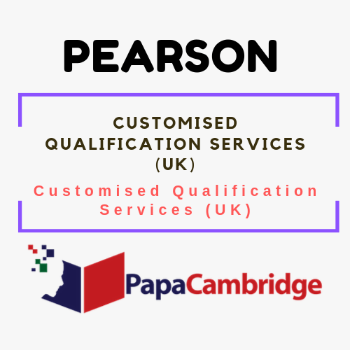 Customised Qualification Services | Customised Qualification Services (UK) | Pearson | Syllabus