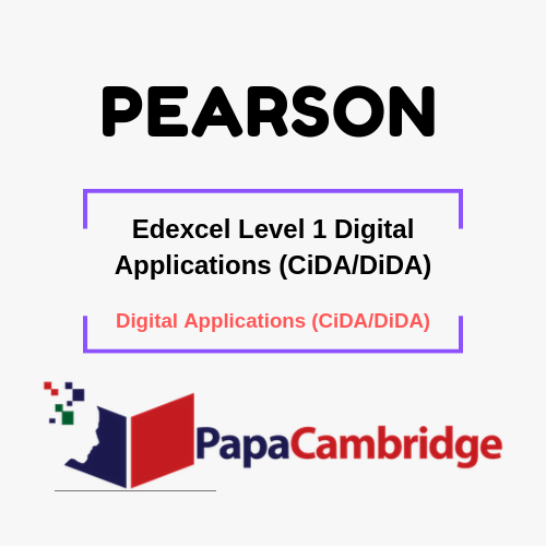 Edexcel Level 1 Digital Applications (CiDA/DiDA) Notes