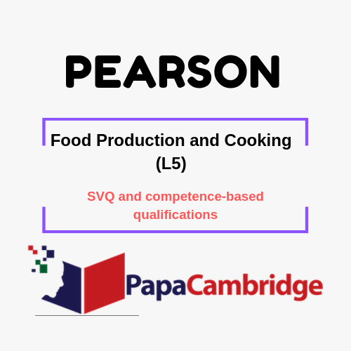 Food Production and Cooking (L5) SVQ and competence-based qualifications Syllabus